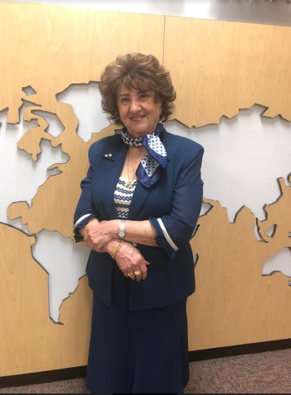 السيدة أمال مزهر آجي في مكاتب راديو كندا الدولي اليوم الثلثاء 21 أيار 2019 عشية سفرها في إجازة إلى بيروت والشام/بعدسة كوليت ضرغام