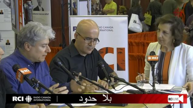 مي أبو صعب وسمير بن جعفر وفادي الهاروني في صالون الهجرة والاندماج في 30-06-2019/ RCI