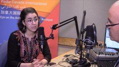 الطالبة الجزائرية ياسمين بوقرش في ضيافة راديو كندا الدولي - Photo : RCI