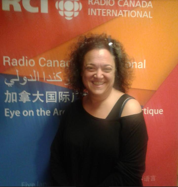 الفنانة الكندية اللبنانية في ضيافة القسم العربي لراديو كندا الدولي/بعدسة زبير جازي