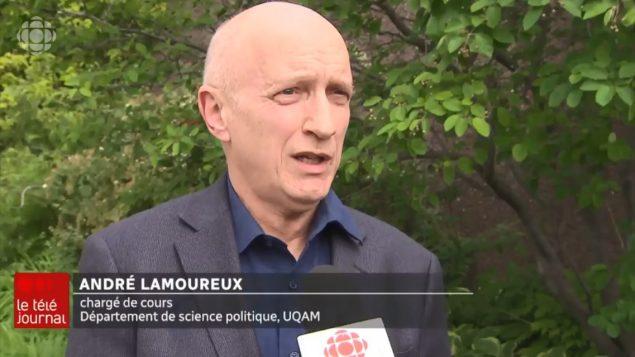 أندريه لامورو، أستاذ جامعي في كلية العلوم السياسية في جامعة كيبيك في مونتريال - Radio Canada