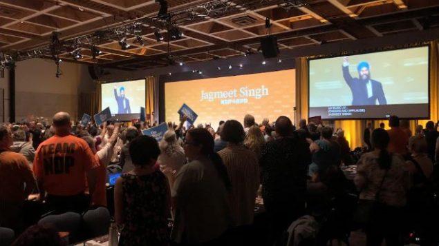 جانب من أشغال مؤتمر الحزب الديمقراطي الجديد في هاميلتون، أونتاريو، قبل أمس الأحد 16 يونيو حزيران 2019 - THE PRESS CAN / PRESS TIAN Walton