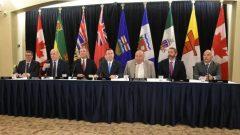 رؤساء حكومات مقاطعات وأقاليم الغرب الكندي في قمّتهم السنوية المنعقدة أمس الخميس في ادمونتون عاصمة مقاطعة ألبرتا - Terry Reith / CBC