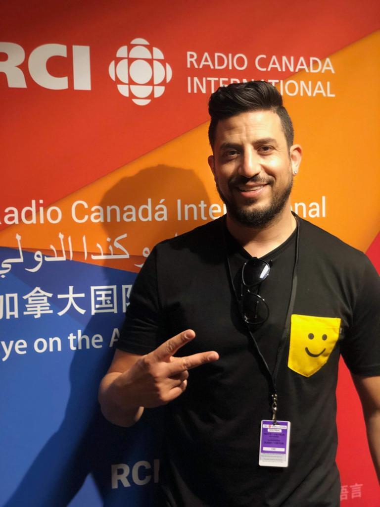 الفنّان الكندي المغربي عبدل قديري في استديو راديو كندا الدولي في 04-07-2019/عبدل قديري