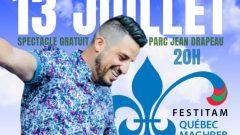 الفنّان الكندي المغربي عبدل قديري يشارك في مهرجان كيبيك المغرب في مونتريال في 13-07-2019/عبدل قديري/Festival Québec-Maghreb