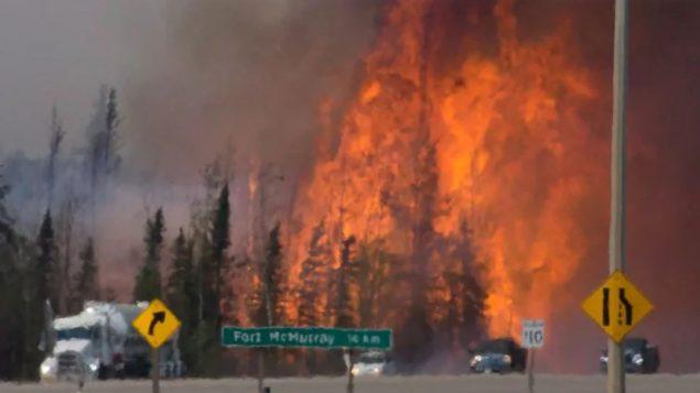 حرائق الغابات المدمّرة في فورت ماكموري في ألبرتا عام 2016/Jonathan Hayward/CP