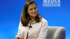 وزيرة الخارجيّة الكنديّة كريستيا فريلاند/Peter Nicholls/ Reuters