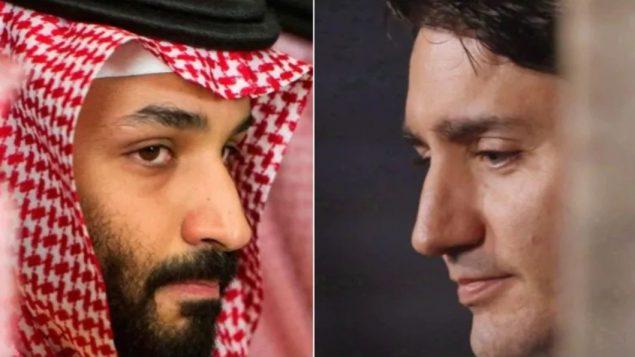وليّ العهد السعودي الأمير محمّد بن سلمان ورئيس الحكومة الكنديّة جوستان ترودو/Cliff Owen/AP, Patrick Doyle/CP