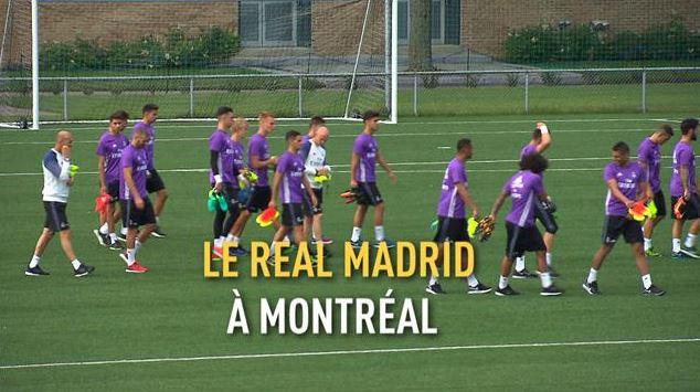 فريق ريال مدريد في حصة تدريبية في مونتريال في يوليو تموز 2016 (أرشيف) - Radio Canada