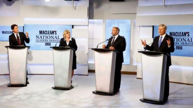 مناظرة لزعماء الأحزاب الفدرالية قبل انتخابات 2015 - Mark Blinch / Reuters