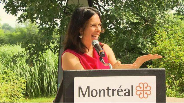 فاليري بلانت عمدة مونتريال تعلن عن إنشاء متنزّه كبير في غرب المدينة في 08-08-2019/Radio-Canada