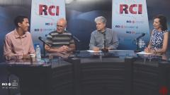 أسرة القسم العربي وضيف البرنامج أحمد سعيد مدير البرمجة المساعد في مهرجان أورينتاليس/RCI