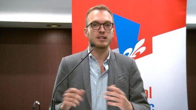ستيفان ستريل رئيس لجنة الشباب في الحزب الليبرالي الكيبيكي/ Radio-Canada