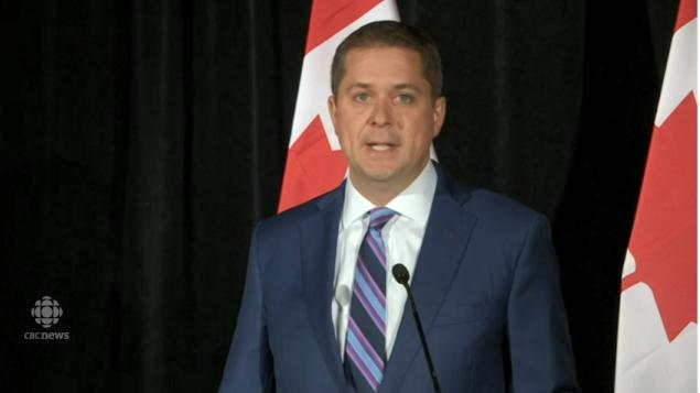 أندرو شير زعيم المحافظين، حزب المعارضة الرسميّة في مجلس العموم الكندي/CBC/ هيئة الاذاعة الكنديّة