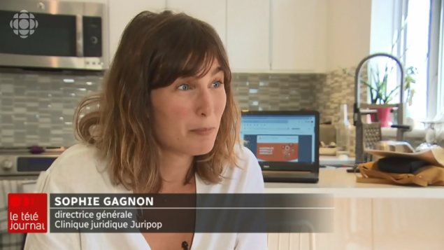 صوفي غانيون ، المديرة العامة للعيادة القانونية جوريبوب - Radio Canada