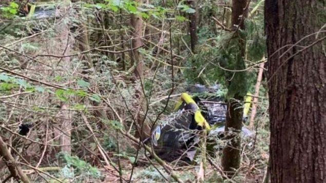 تسبّب قطع كابلات التلفريك في مدينة سكواميش في سقوط 30 كابينة على الأرض/ Deborah Goble/ Radio-Canada