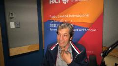 السينمائي اللبناني بهيج حجيج في استديوهات راديو كندا الدولي/بعدسة كوليت ضرغام منصف
