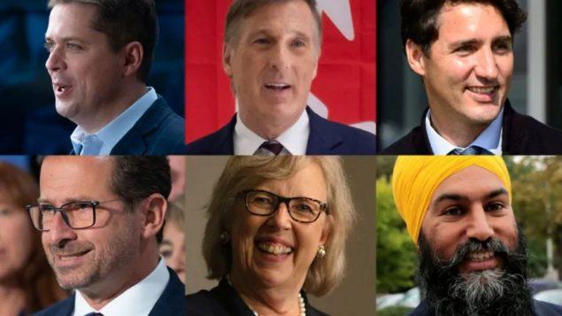 زعماء الأحزاب الفدراليّة يواصلون نشاطهم منذ انطلاق الحملة الانتخابيّة استعداد للانتخابات التي تجري في 21 تشرين الأوّل أكتوبر 2019/ Paul Chiasson/CP/Evan Mitsui/CBC, Sean Kilpatrick/CP, Chad Hipolito/CP, Adrian Wyld/CP)
