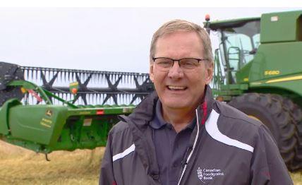 تيرانس بارغ المدير الاقليمي لبنك الحبوب الكندي/Scott Neufeld/CBC