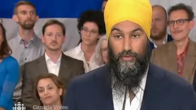 زعيم الديمقراطيّين الجدد جاغميت سينغ يسعى لاستمالة الناخبين في مقاطعة كيبيك/ CBC/هيئة الاذاعة الكنديّة