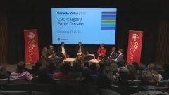 طاولة مستديرة حول الانتخابات التشريعيّة نظّمتها سي بي سي -راديو كندا في مدينة كالغاري/CBC/Radio-Canada