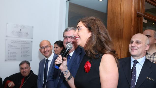 الحضور طرح أسئلة على رئيس حزب القوّات اللبنانيّة سمير جعجع خلال لقاء في قنصليّة لبنان في مونتريال/Nicolas Dib