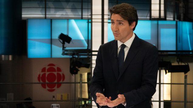 الزعيم الليبرالي جوستان ترودو في مقابلة أجراها معه تلفزيون هيئة الإذاعة الكندية أمس الخميس 17 أكتوبر تشرين الأول - Radio Canada