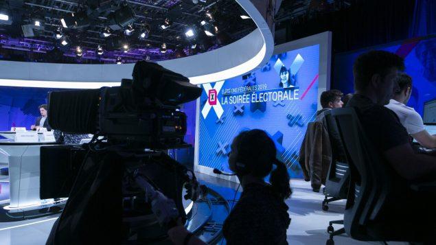 استديو تلفزيون هيئة الإذاعة الكندية الخاص بليلة الانتخابات - Radio Canada