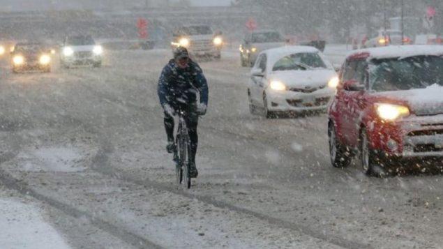 قد تتلقى بعض المناطق في الجنوب الشرقي لمانيتوبا من 10 إلى 15 سم من الثلج اليوم الخميس - Radio Canada Jeff Staplton /