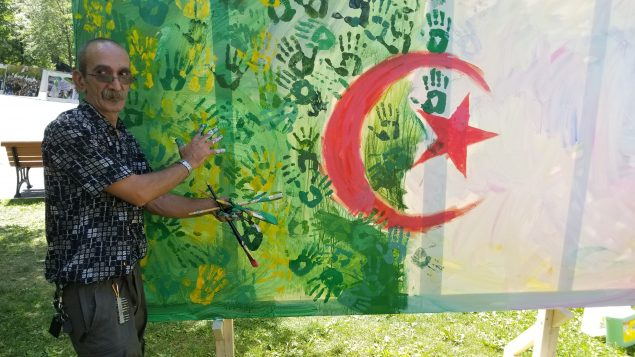 الفنان التشكيلي، علي كيشو - Photo : samir Bendjafer