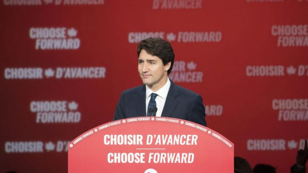اختيار المضيّ قدما شعار رفعه الحزب الليبرالي بزعامة جوستان ترودو خلال الحملة الانتخابيّة الأخيرة 2019/Ivanoh Demers/Radio-Canada