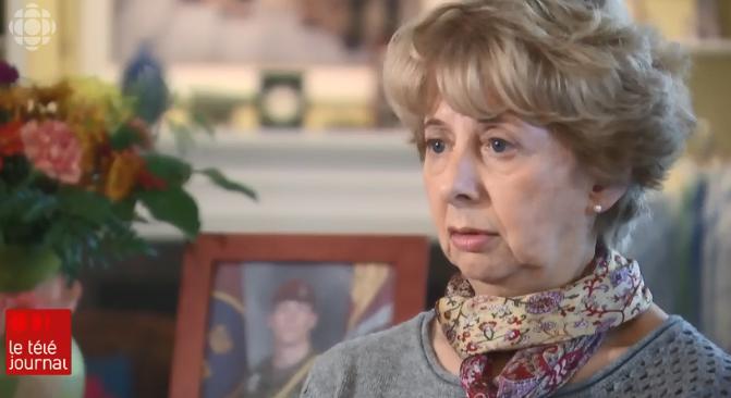 رين سامسون داو ، أمّ الصليب الفضّي فقدت ابنها الجندي ماثيو داو خلال أدائه الخدمة في أفغانستان/ Radio-Canada