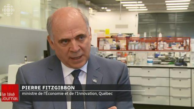 بيار فيتزغيبون، وزير الإقتصاد في مقاطعة كيبيك - Radio Canada