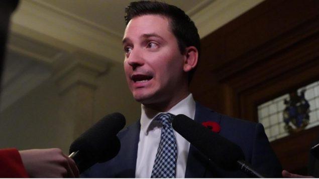 وزير الهجرة الكيبيكي سيمون جولان باريت /Sylvain Roy Roussel/Radio-Canada