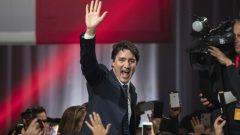 الزعيم الليبرالي جوستان ترودو فاز بحكومة أقليّة في الانتخابات التشريعيّة التي جرت في 21-10-2019/Ivanoh Demers/Radio-Canada