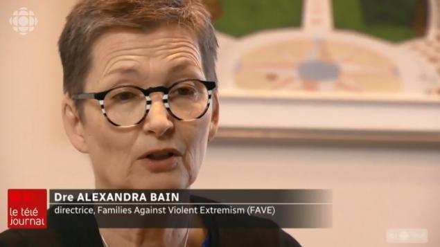 ألكسندرا باين ، مديرة منظمة أُسر ضد العنف والتطرف - Radio Canada