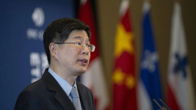 بي وو كونغ سفير الصين الجديد في كندا يتحدّث في مجلس العلاقات الدوليّة في مونتريال/ Ivanoh Demers/ Radio-Canada