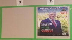 لافتة انتخابية في مقر القنصلية الجزائرية في مونتريال - Photo : Samir Bendjafer / RCI