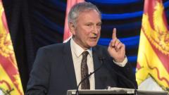 بلين هيغز رئيس حكومة نيوبرنزويك يلقي خطابه حول حال الاتحاديّة في 30-01-2020/Stephen MacGillivray/ CP