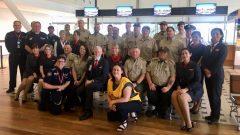 فرقة من رجال الإطفاء الكنديين عند وصولها إلى مطار بريزبان في أستراليا يوم 31 ديسمبر كانون الأول 2019 - Photo : Canadian Consulate Sydney / Twitter