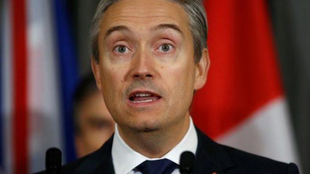 وزير الخارجية الكندي فرانسوا فيليب شامبان - Reuters / Henry Nicholls