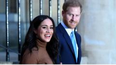 دوق ساسكس الأمير هاري وزوجته دوقة ساسكس ميغان ماركل/Daniel Leal-Olivas/WPA/Getty Image