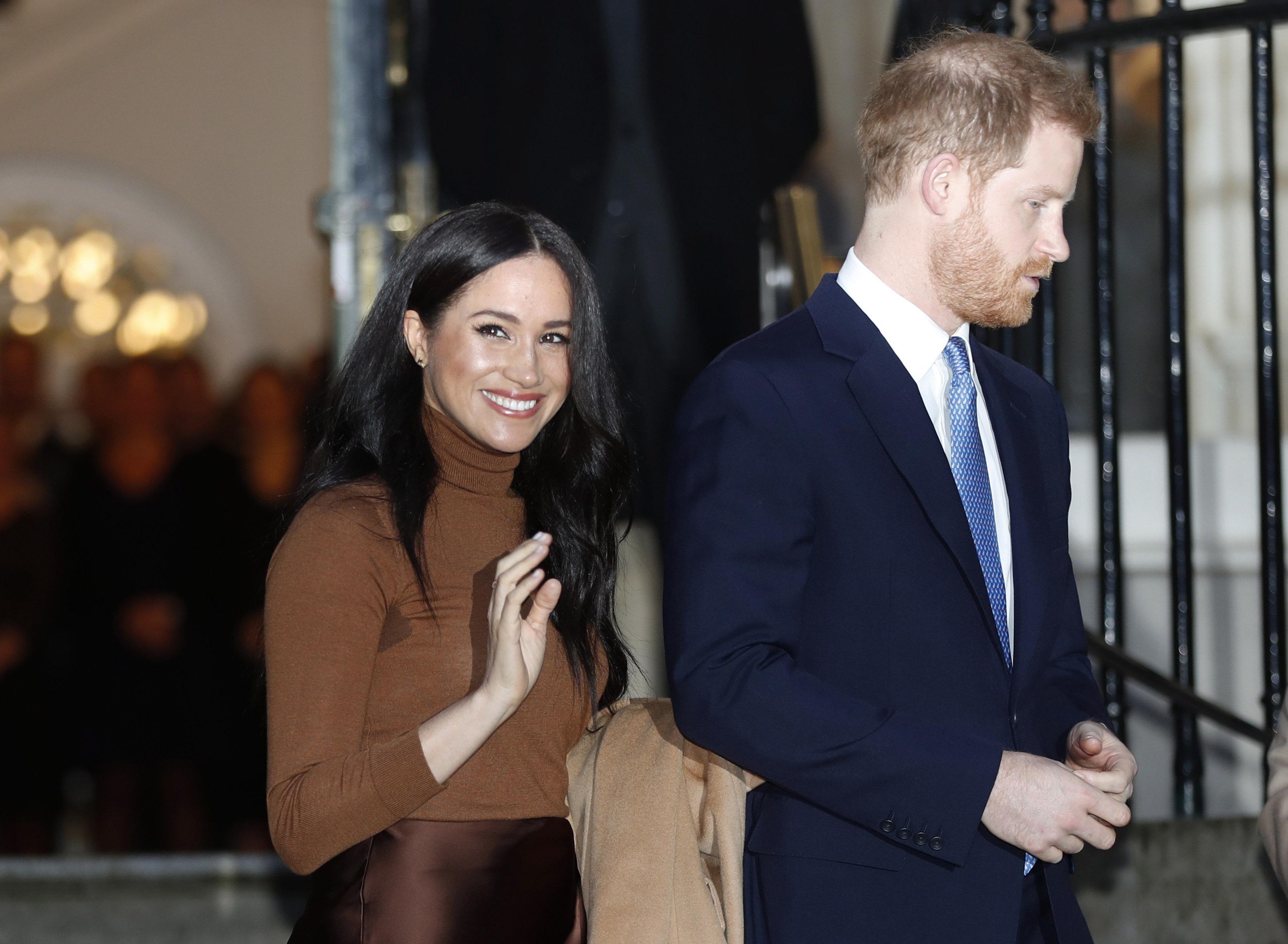 دوق ودوقة ساسكس، الأمير هاري وزوجته ميغان ماركل - (أرشيف) - AP Photo Frank Augstein / File /