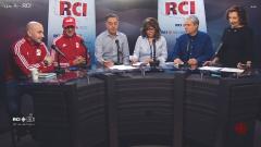 أسرة السم العربي وضيوف البرنامج كريم جبري وحسين إراتني من جمعيّة كرة القدم الجزائريّة في كيبيك/RCI