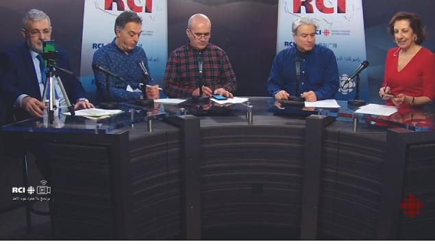أسرة القسم العربي وضيف البرنامج الأستاذ حسن غيّة/RCI