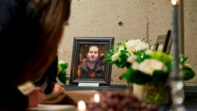 مراسم تأبين جرت في جامعة وسترن في لندن أونتاريو لأربعة من طلّاب الجامعة لقوا مصرعهم في تحطّم الطائرة الأوكرانيّة في طهران/Geoff Robins/AFP via Getty Images)