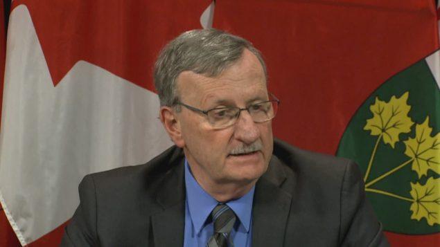 ديفيد ويليامز، كبير اختصاصيي الصحة في أونتاريو - Radio Canada