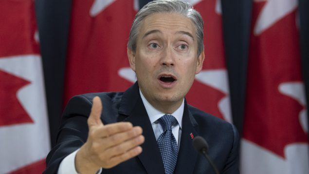 وزير الخارجيّة الكندي قرانسوا فيليب شامبان قال إنّ كندا تتابع باستمرار تطوّرت فيروس كورونا/Adrian Wyld/CP