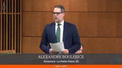 النائب الكندي ألكسندر بولريس وهو يلقي كلمته أمام مجلس العموم دعمًا للحراك الشعبي في الجزائر - Photo : Screenshot / House of Commons