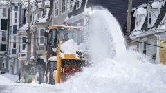 تخصّص بلدية سانت جون ميزانية عامة تبلغ 17,5 مليون دولار لإزاحة الثلوج من الشوارع - The Canadian Press / Andrew Vaughn
